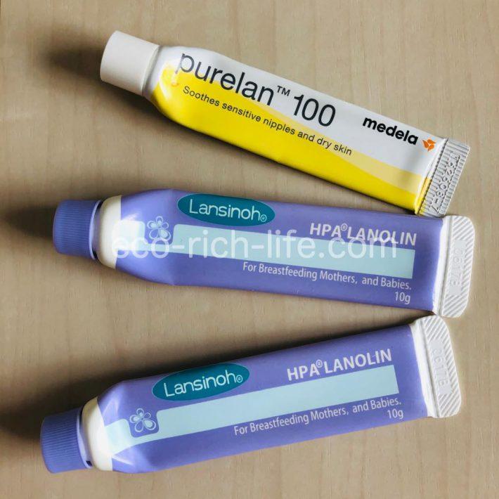 lanshinoh オススメ乳首用保湿剤 ランシノー ピュアレーン 比較