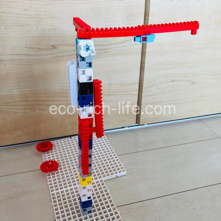 アーテックブロックの作品例。サイドから見た写真。
